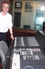 Andy Pratt at the mixing desk